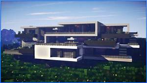Minecraft: Epic Modern Mansion (60fps) - YouTube