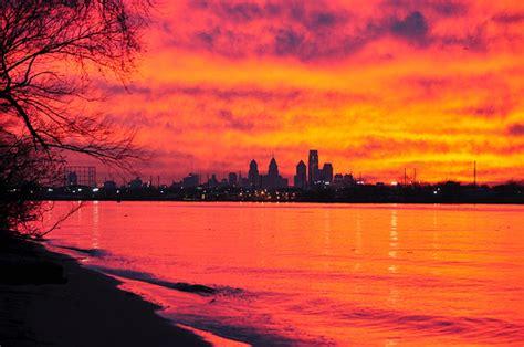 Philadelphia Skyline At Sunset The Philadelphia Skyline