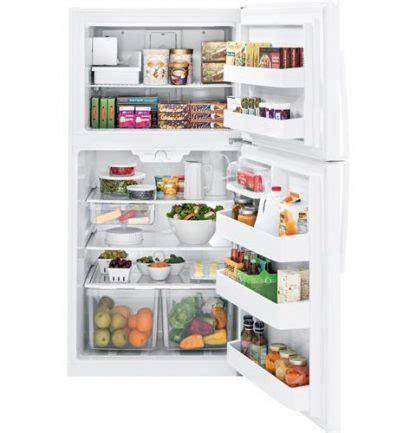 ge giejsnr energy star  cu ft top freezer refrigerator  appliances