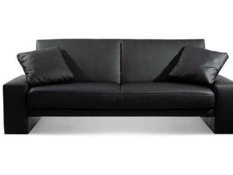 Black Leather Bed Settee by 2 Seater Sofa Bed Seating Beds Ebay
