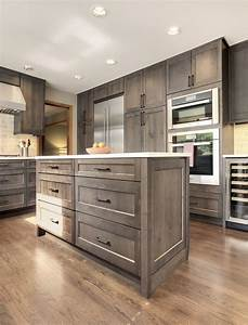 Restaining oak cabinets gray cabinets matttroy for Best brand of paint for kitchen cabinets with chef wall art