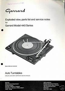 Garrard Exploded Diagram  U0026 Parts List Model 440