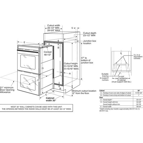 double wall oven installation height tcworksorg