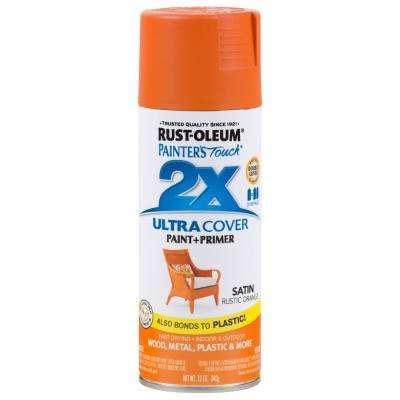 rust oleum painter s touch 2x satin rustic orange the