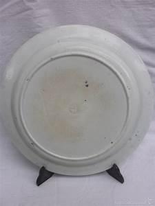 Antigua Fuente De Loza Gran Plato Porcelana La