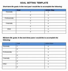 goal setting template 4 free word pdf document With setting goals and objectives template