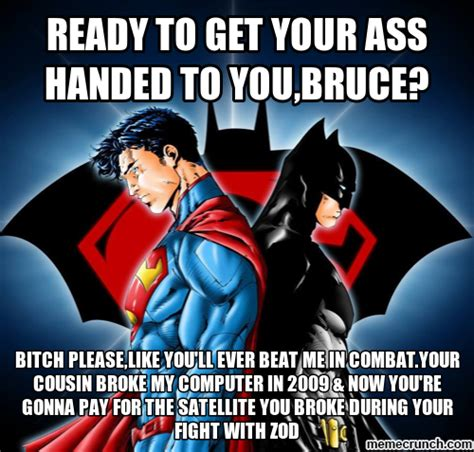 Superman And Batman Memes - batman vs superman meme