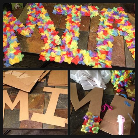 tropical table ls cheap diy luau board name diy arts and crafts pinterest