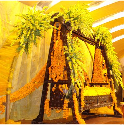 ghosia caterers flowers decoration mehndi stage