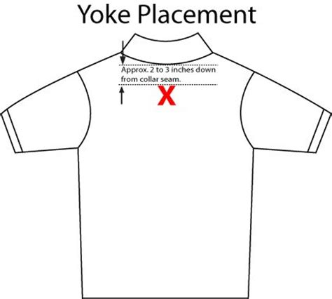 left chest logo placement template proper placement for embroidery on a back yoke for details on how to order garments with your