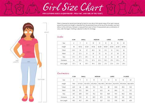 ag girl size chartjpg