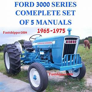 Ford 3000 Series Tractor Service  Parts Catalog  Owners