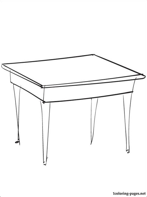 coloring page dining room table coloring pages