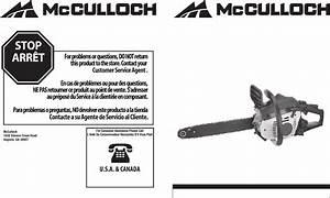Mcculloch Chainsaws Manuals