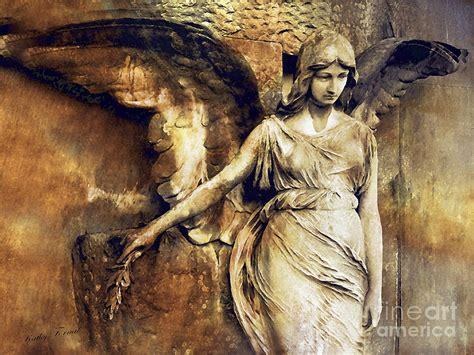 angel art surreal gothic angel art photography dark sepia golden impressionistic angel art