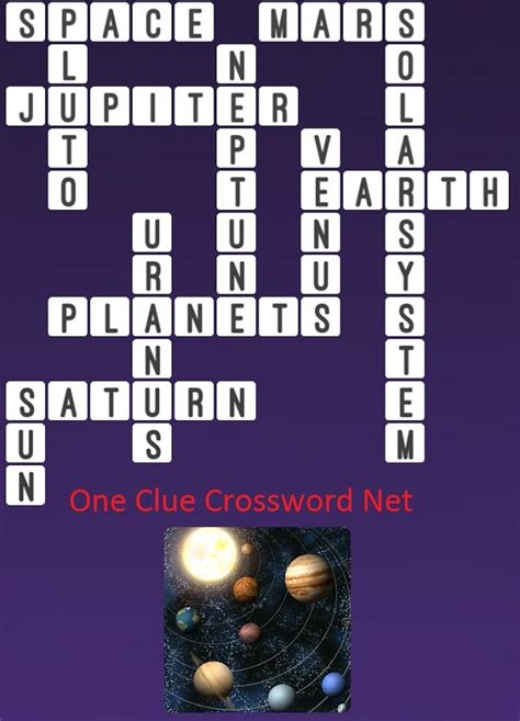 crossword system solar clue puzzle answers word answer