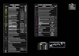 Legend Electrical Installations Dwg Block For Autocad
