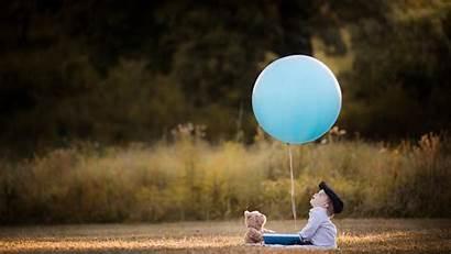 Children Wallpapers Looking Balloon Teddy Bears Balloons