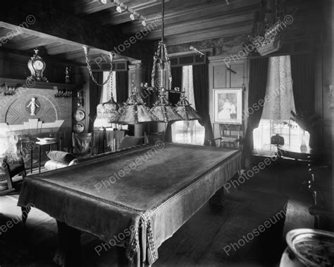 fancy  fashioned pool table vintage billard  reprint   photo ebay billiards