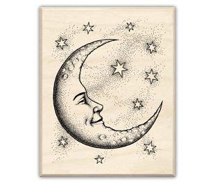 halfcrescentmoontattoo crescent moon  stars drawings crescent moon rubber stamp