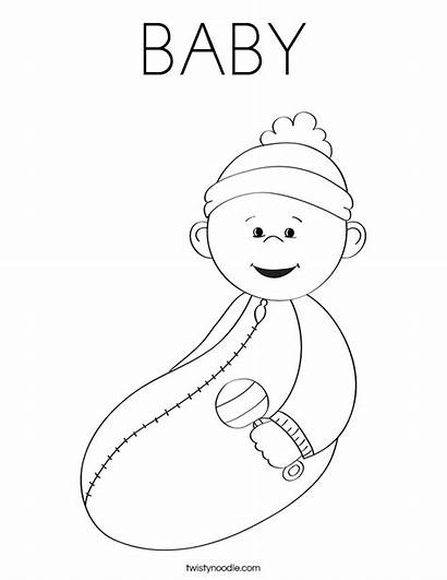Boy Coloring Pages Babies Printable Getcoloringpages Shower