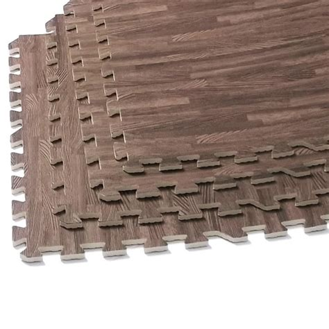 interlocking wood mats soft foam exercise floor