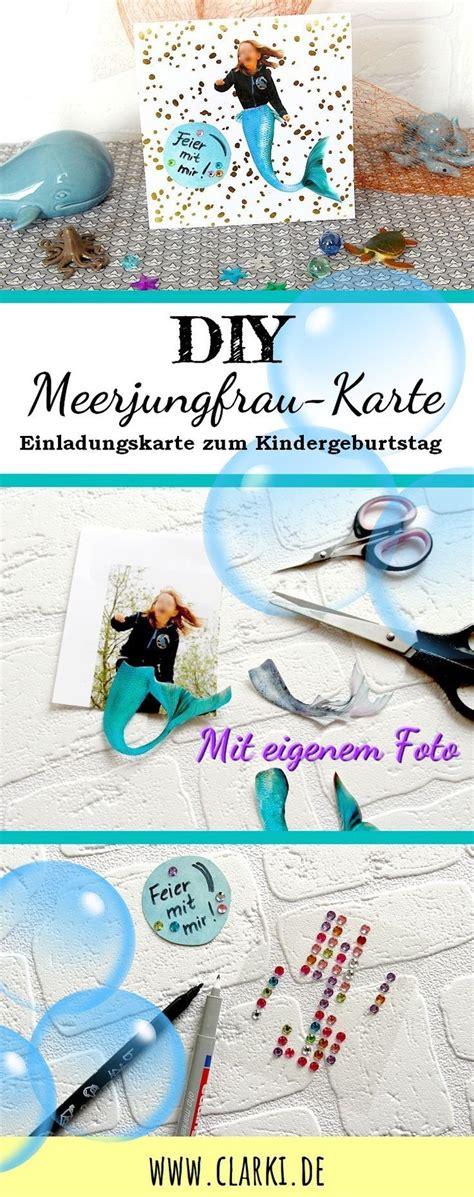 diy meerjungfrau karte mit persoenlichem foto kostenloser