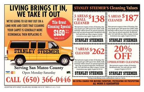 new stanlely steemer coupon mountain view coupons