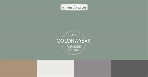 the 2016 paint color of the year presented by voice of color