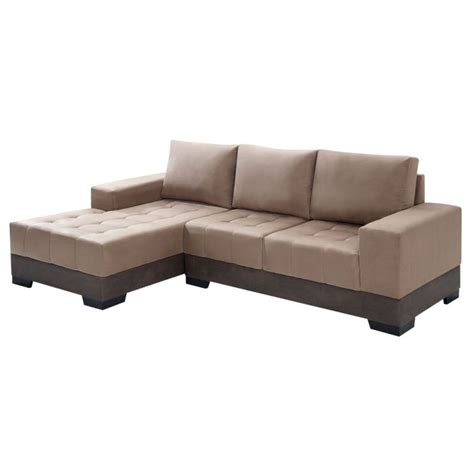 sofá 3 lugares suede chaise sof 225 3 lugares chaise patr 237 cia suede chocolate