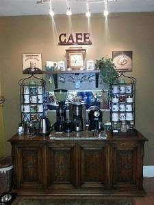 Home coffee bar ideas coffee bar ideas and because you for Home coffee bar design ideas