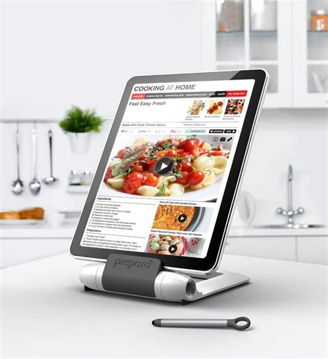 tablette cuisine cook 8 and tablet stands made for cooking in the kitchen