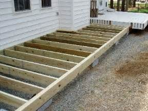 this is a floating deck it rests on cinder blocks as