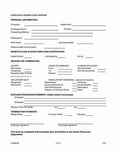 best photos of free employee termination form template With termination of employment form template