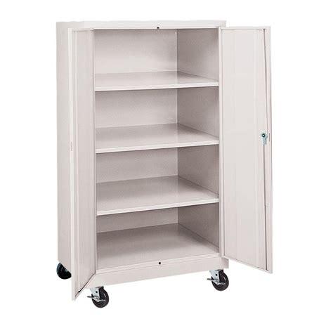 Hdx Plastic Storage Cabinets by Hdx 35 In W 4 Shelf Plastic Multi Purpose Cabinet In Gray