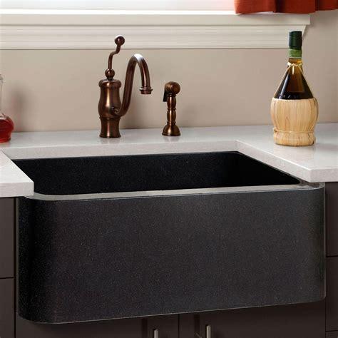 Polished Granite Farmhouse Sink  Chiseled Front