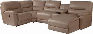 casual five piece reclining sectional sofa with las chaise With 5 piece sectional sofa with recliner