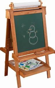 Tableau Enfant Bois : chevalet de dessin en bois pour enfant avec rouleau pap ~ Teatrodelosmanantiales.com Idées de Décoration