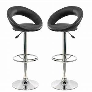 Tabouret De Bar Cuir Lot De 2 Tabourets De Bar Jeff Cuir Coloris 2