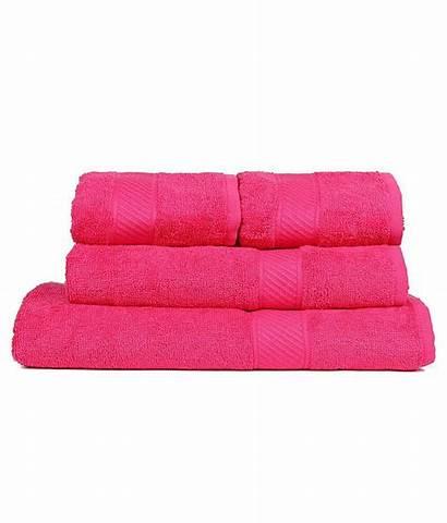 Trident Pink Neon Couple Towels Pcs Bath