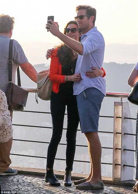 Armie Hammer and wife Elizabeth Chambers snap selfies in ...