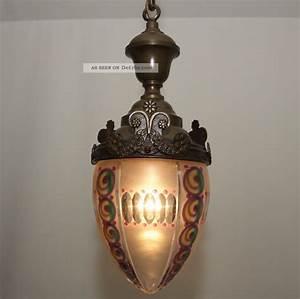 Lampe Art Deco : rarit t um 1920 art deco nouveau lampe deckenlampe pendelleuchte messing glas ~ Teatrodelosmanantiales.com Idées de Décoration