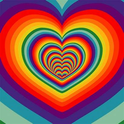 Rainbow Hearts Heart Blonde Notes