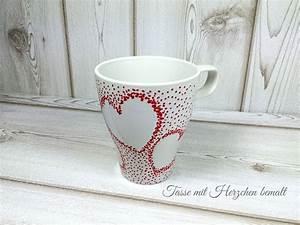 Tassen Bemalen Ideen : tassen mit porzellanmalstiften individuell gestalten ~ Yasmunasinghe.com Haus und Dekorationen