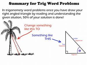 Ufe0f How To Solve Trigonometry Word Problems  Right  2019