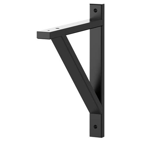 Black Shelf Brackets by Decorative Shelf Brackets With Modern Ekby Valter Bracket