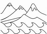 Coloring Mountain Mountains Range Climbing Drawing Creation Days Getdrawings sketch template