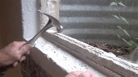 replace  basement window  concrete youtube