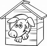 Dog Coloring Illustrations Cartoon Clip Doghouse Character Returned Zero Sorry Results sketch template