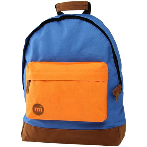 mi pac  tone backpack blueorange